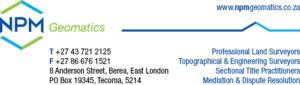 NPM Geomatics email signature